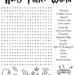 Harrypotter Free Word Search Puzzle And Planning Ideas For Universal   Free Printable Universal Crossword Puzzle