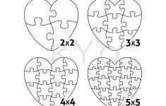 Heart Jigsaw Puzzle Templates Ai Eps Svg Pdf Dxf Files, Heart Shape   2 Piece Puzzle Printable