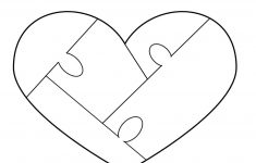 Heart Puzzle Template – Free To Use | Woodworking – Puzzles – Free Printable Heart Puzzle