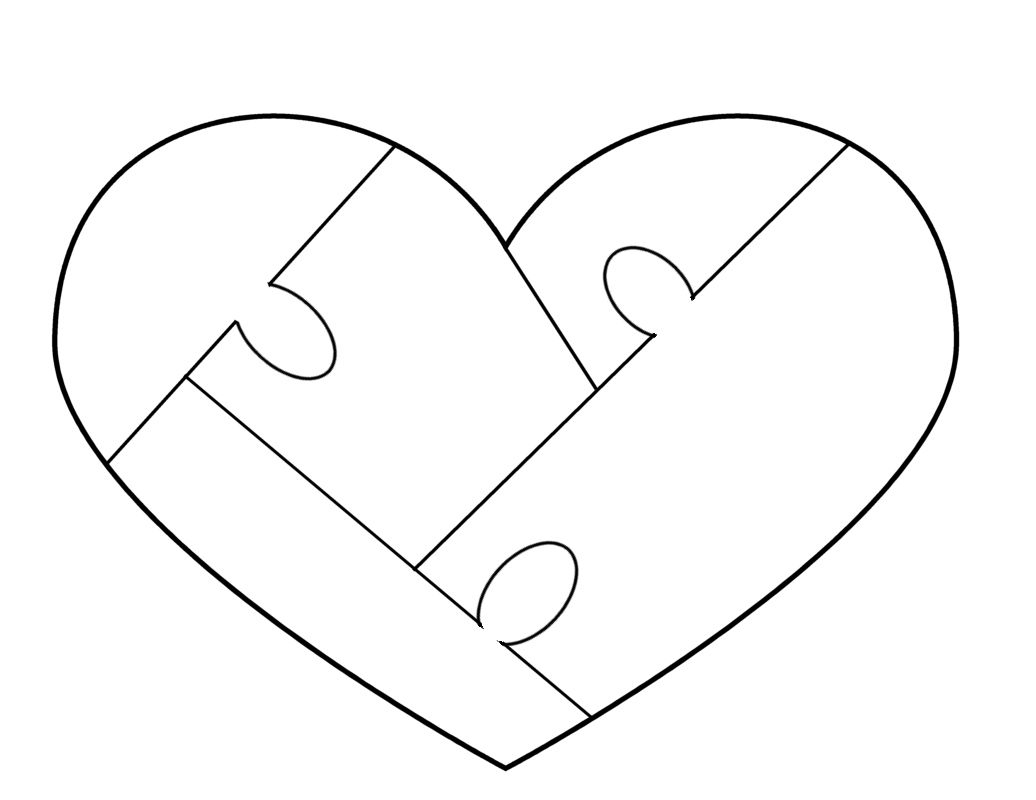 Heart Puzzle Template - Free To Use | Woodworking - Puzzles - Printable Heart Puzzles