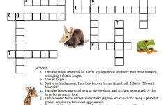 Here Is A Free Jungle Crossword Puzzle. Compliments Of Stuffedsafari   Wildlife Crossword Puzzle Printable