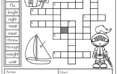 Homophones: Crossword Puzzle  Read The Clues And Use The Word Bank   Grade 1 Crossword Puzzles Printable