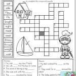 Homophones: Crossword Puzzle  Read The Clues And Use The Word Bank   Printable Crossword Puzzles For Grade 1