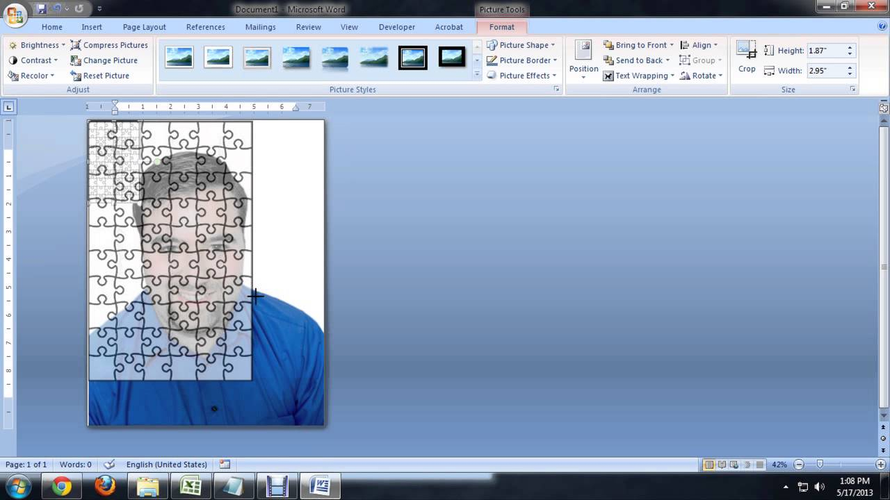 How To Create Jigsaw Puzzles In Microsoft Word, Powerpoint Or - Printable Jigsaw Puzzles Maker