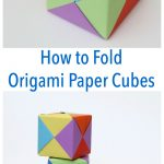 How To Fold Origami Paper Cubes   Frugal Fun For Boys And Girls   Printable Origami Puzzle