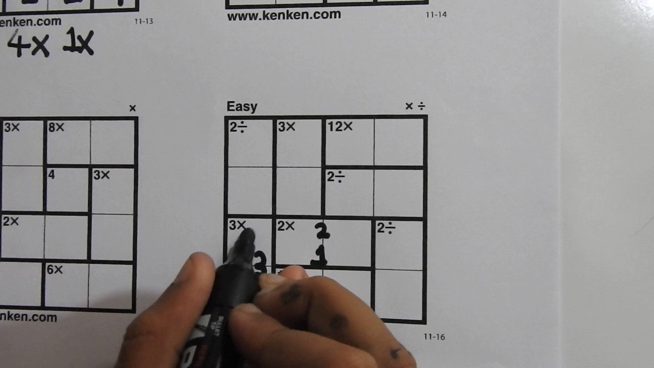 How To Solve 4X4 Kenken Puzzles - Learn In 5 Minutes - Youtube - Printable Kenken Puzzles 3X3