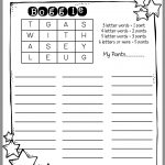 How To Use Boggle In Word Work (Sunny Days In Second Grade   Printable Boggle Puzzles