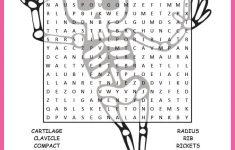 Human Skeletal System Word Search Worksheet   Tpt Science Lessons   Printable Skeletal System Crossword Puzzle