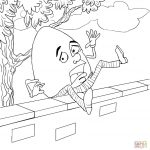 Humpty Dumpty Fell Off The Wall Coloring Page | Free Printable   Printable Humpty Dumpty Puzzle