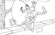 Humpty Dumpty Fell Off The Wall Coloring Page   Free Printable   Printable Humpty Dumpty Puzzle