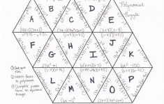 I Is A Number: Factoring Polynomials Tarsia | Algebra | Maths – Printable Tarsia Puzzles
