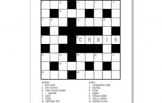 Images :kids Card Game Crossword , 4 Best Images Of Printable   Birthday Crossword Puzzle Printable