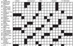 Images: Nyt Free Printable Crossword Puzzles,   Best Games Resource   Printable Crossword Puzzle La Times