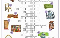In The House Crossword Puzzle Worksheet   Free Esl Printable   Printable House Puzzle