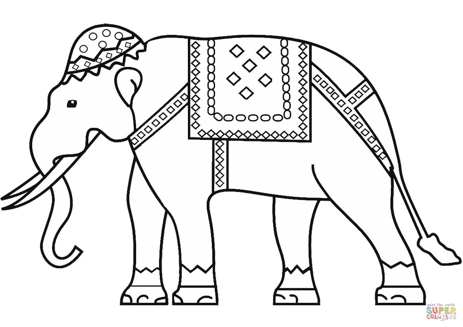 Indian Elephant Coloring Page | Free Printable Coloring Pages - Printable Elephant Puzzle