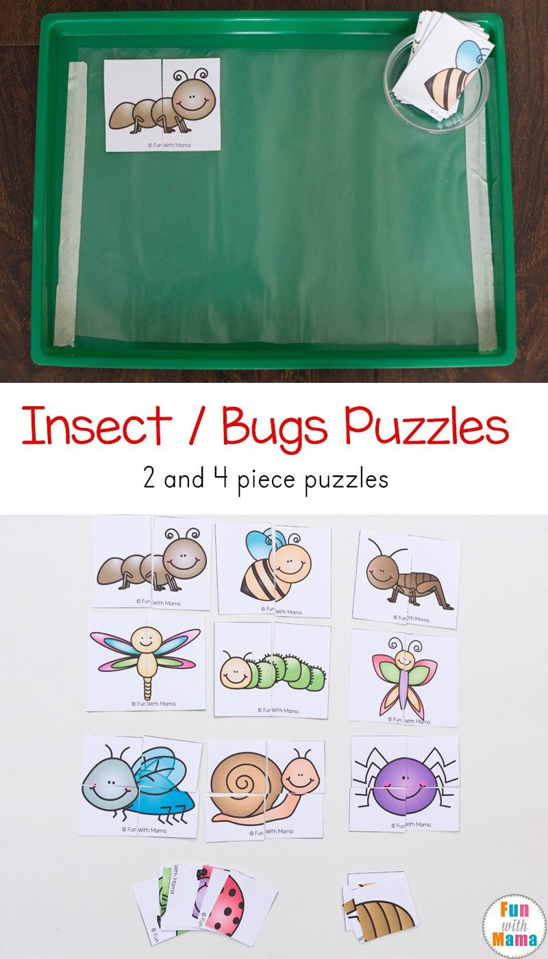 Insect Theme Printable Puzzles | Todds | Bug Activities, Insect - Printable Bug Puzzles
