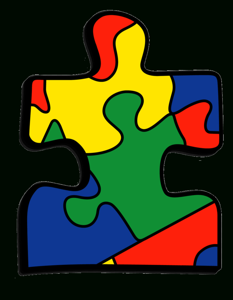 Iron On Autism Awareness Patch - Colorful Jigsaw Puzzle Piece - Printable Puzzle Piece Autism
