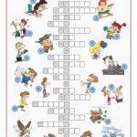 Irregular Verbs Crossword Puzzle Worksheet   Free Esl Printable   Crossword Puzzle Verbs Printable