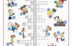 Irregular Verbs Crossword Puzzle Worksheet   Free Esl Printable   Worksheet Verb Puzzle