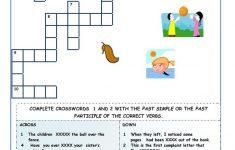 Irregular Verbs   Crossword Puzzles Worksheet   Free Esl Printable   Verb Crossword Puzzles Printable
