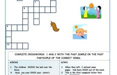 Irregular Verbs   Crossword Puzzles Worksheet   Free Esl Printable   Verbs Crossword Puzzle Printable