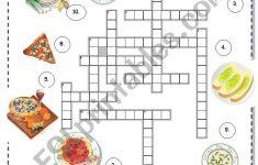 Italian Food Crossword   Esl Worksheetborna   Printable Crossword Puzzles In Italian