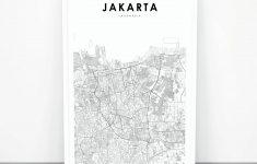 Jakarta Map Print Indonesia Map Art Poster City Street Road | Etsy   Print Puzzle Jakarta