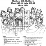 Jesus Chooses His 12 Disciples Sunday School Crossword Puzzles: The   Printable Jesus Puzzle