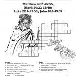 Jesus' Crucifixion Sunday School Crossword Puzzles: A Printable   Printable Jesus Puzzle