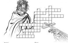 Jesus' Crucifixion Sunday School Crossword Puzzles: A Printable   Printable Jesus Puzzle
