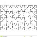 Jigsaw Puzzle Design Template | Free Puzzle Templates 1300.1390   Printable Drawing Puzzles