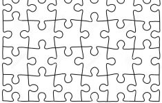 Jigsaw Puzzle Design Template   Free Puzzle Templates 1300.1390   Printable Drawing Puzzles
