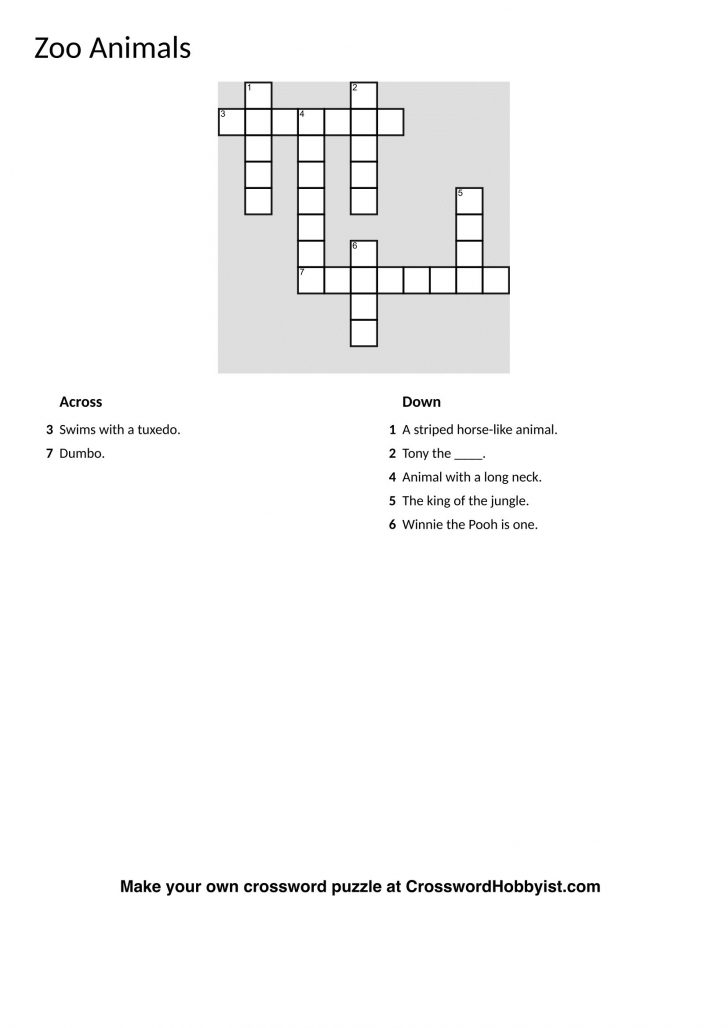Make Your Own Crossword Puzzle Free Online Printable