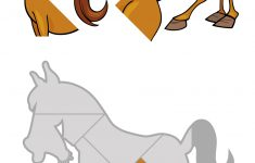 Jigsaw Puzzle With Cartoon Horse | Free Printable Puzzle Games   Printable Horse Puzzles