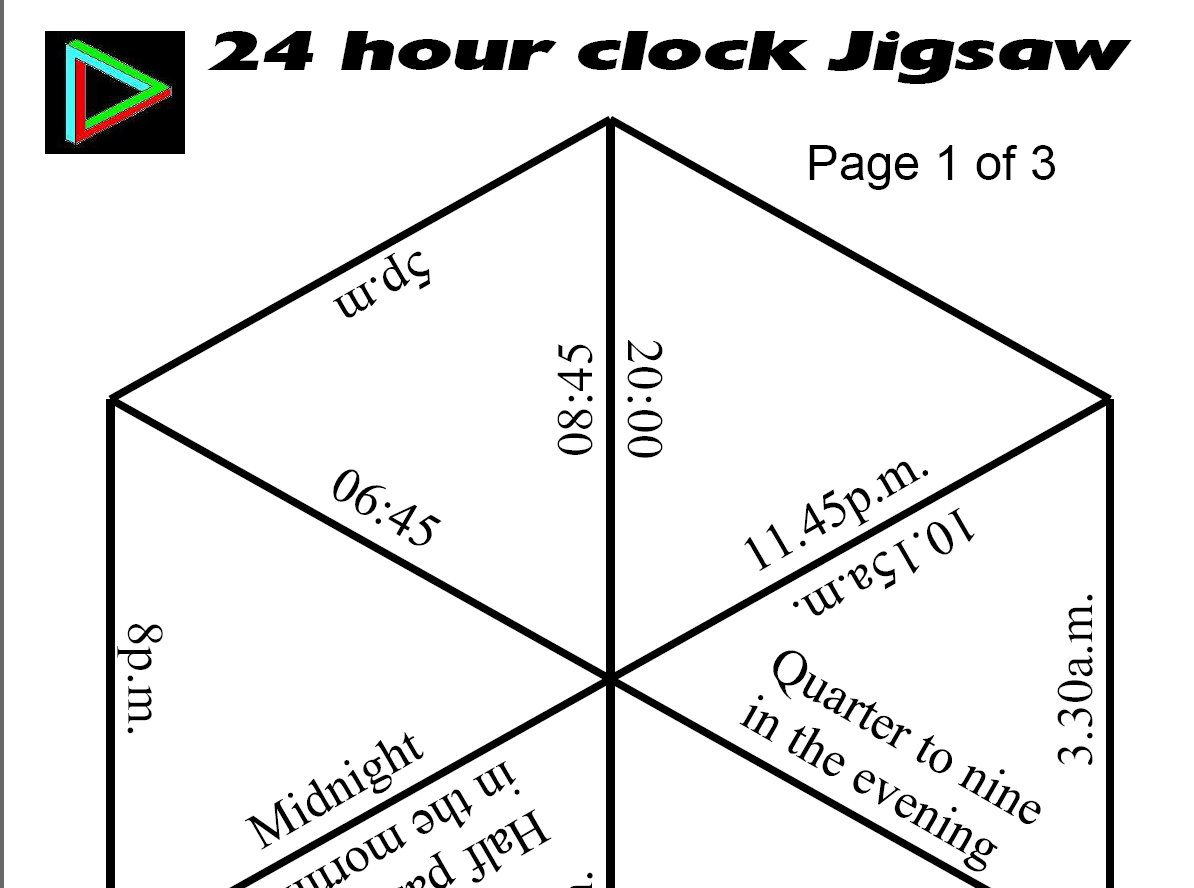 Jigsaws - Printable Tarsia Puzzles English