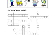 Jobs Crossword Worksheet   Free Esl Printable Worksheets Made   Printable Crossword Puzzles Job