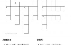 Judges Crossword Puzzle   Printable Biblical Puzzle