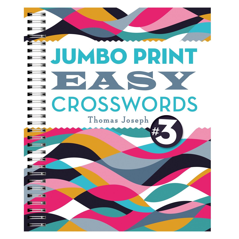 Jumbo Print Easy Crosswords Book 3. Puzzle Book - Puzzle Print Uk