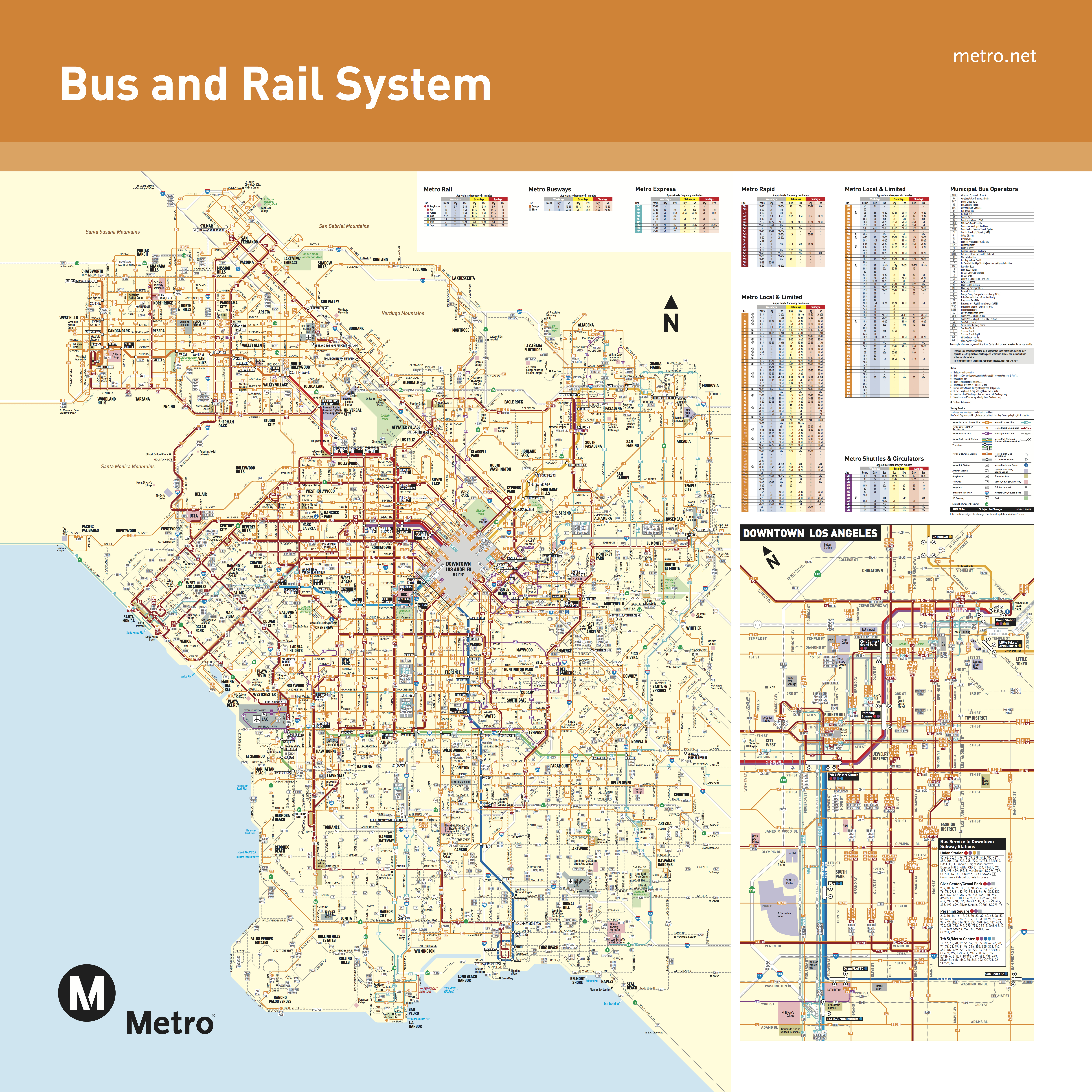 June 2016 - Bus And Rail System - Maps - Printable Crossword Metro