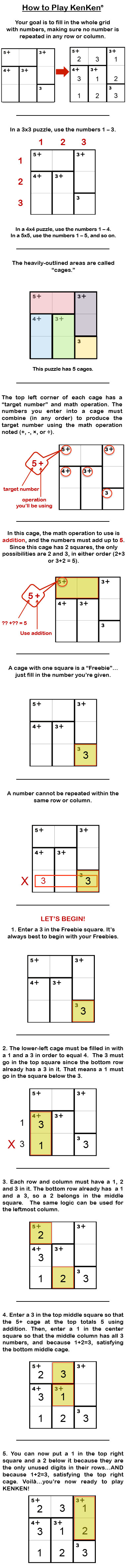 Kenken Puzzle Rules - How To Play This Amazing Puzzle & Brain Teaser! - Printable Kenken Puzzles 3X3