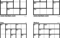 Kenken Puzzles Printable (98+ Images In Collection) Page 1   Printable Kenken Puzzles