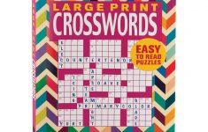 Large Print Crosswords Book   Puzzle Book   Miles Kimball   Large Print Crossword Puzzle Books