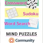 Large Print Puzzle Book (Crossword, Word Search And Sudoku   Printable Crossword Puzzle Book
