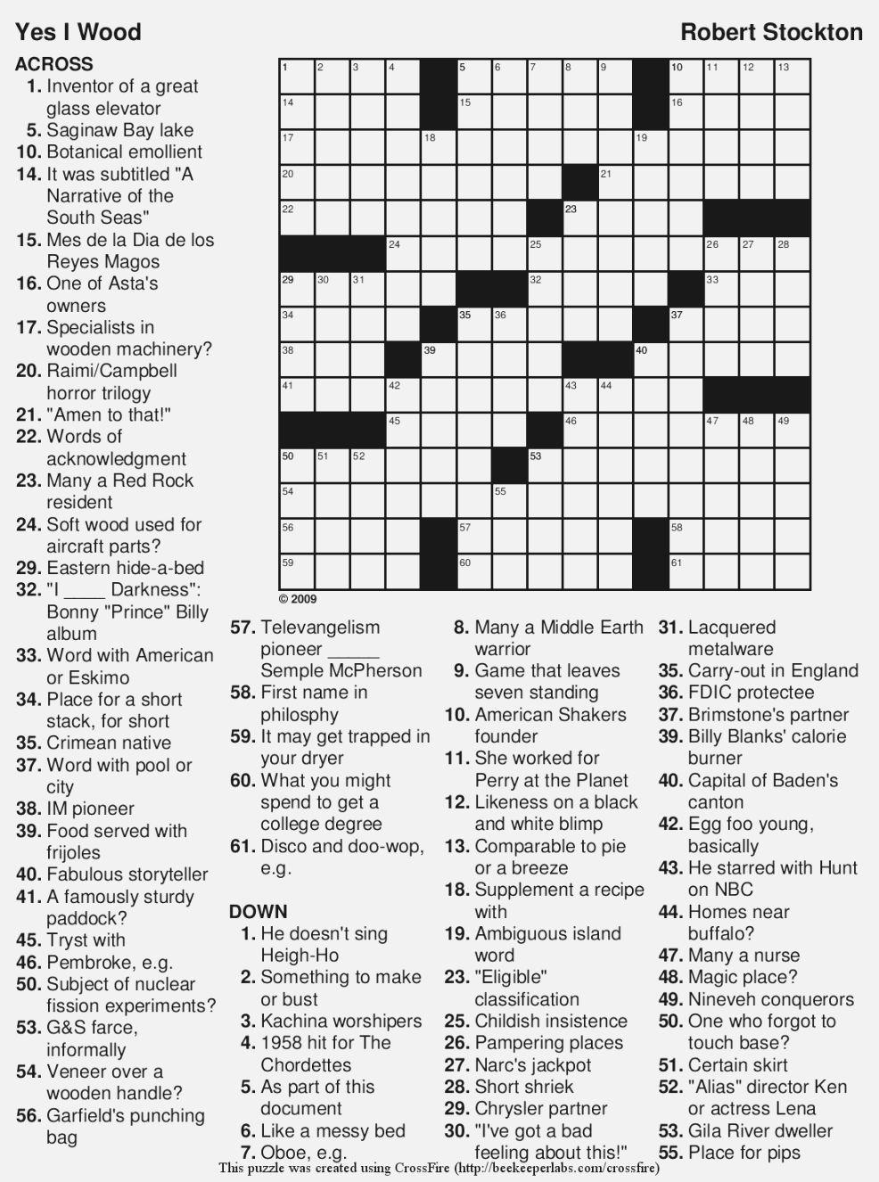 Large Print Puzzles For Seniors | M3U8 - Printable Crossword Puzzles Big