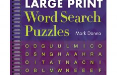 Large Print Word Search Puzzle Book   Printable Puzzle Booklet