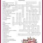 Latin Crossword Puzzle | Tpt Language Arts Lessons | Word Puzzles   Crossword Puzzles In French Printable