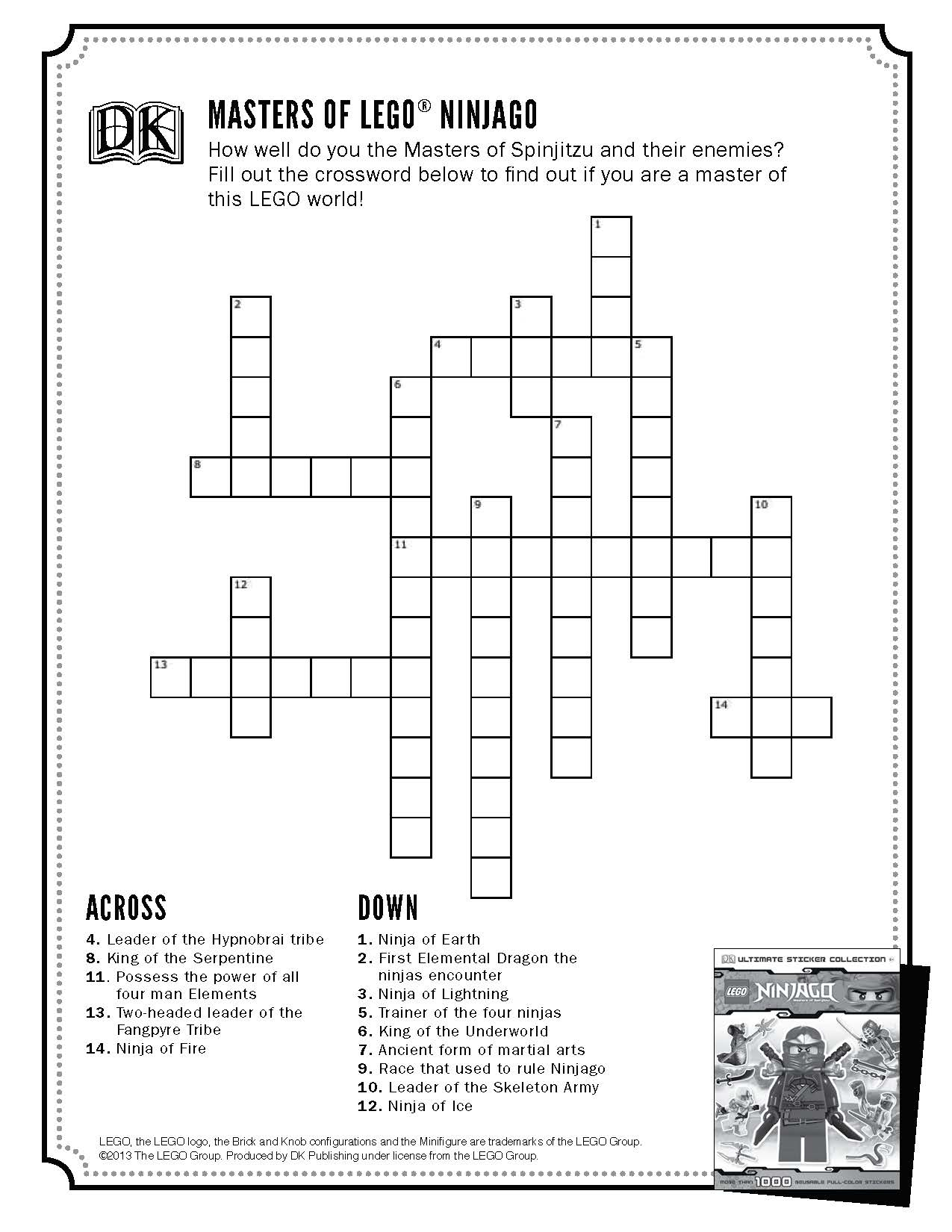 Lego® Printables And Activities | Brightly - Printable Lego Crossword Puzzle