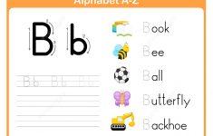 Letter B Tracing Worksheet | Free Printable Puzzle Games   Letter B Puzzle Printable