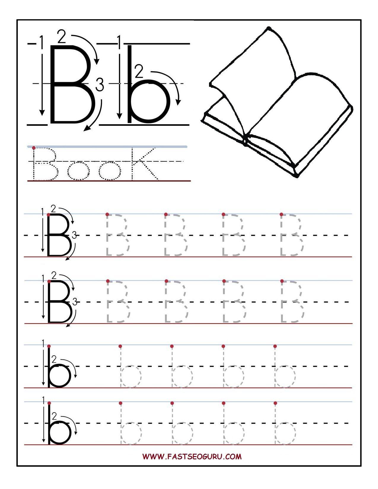 Letter B Worksheets For Preschoolers | Printable Letter B Tracing - Letter B Puzzle Printable