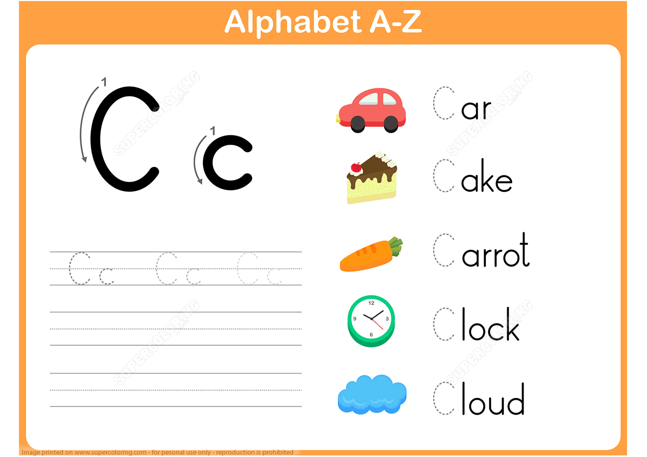 Letter C Tracing Worksheet | Free Printable Puzzle Games - Letter C Puzzle Printable